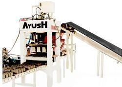 Ayush 3000 to 21000 Unit Per Shift 26 HP Fly Ash Brick Making Machine, for Bricks Production