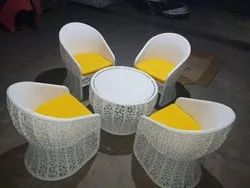 Outdoor wicker coffe set