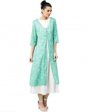 A-Line Cotton Kurti With Inner