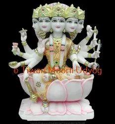 Marble Panchmukhi Gayatri Mata Statue