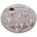 Silver Plated Pooja Thali Set