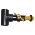 PVC Tee 63 mm with Ball Valve / 40 mm Lock