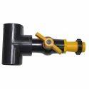PVC Tee 63 mm with Ball Valve / 40 mm Lock
