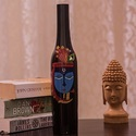 Wooden Krishna Vase Black Wooden Vases - Krishna, Size/dimension: 10*3*2.5