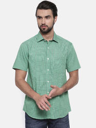 Green Half Sleeve Men Shirts