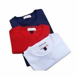 Round Half Sleeve Mens Plain Cotton T-Shirt