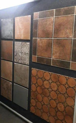 Somany Multi Color Balcony Or Bathroom Floor Tiles 400 X 400, 10 15 Mm