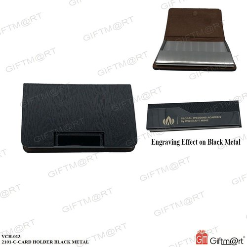 Black Metal VCH-013-2101-C-Card Holder