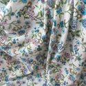 White Printed Crepe Fabrics
