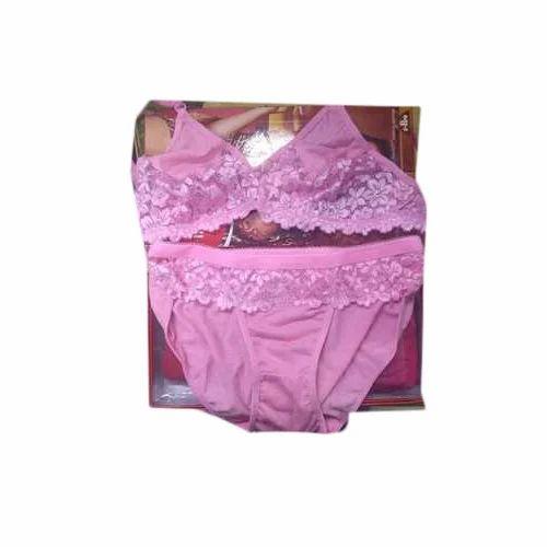 a3aebb7f05 Cotton Pink Bra Panty Set