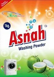 Asnah White Detergent Powder, Packaging Type: Packet, for Laundry