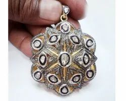 Real Diamonds Party Wear Diamond Pendant
