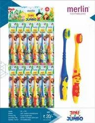 Soft Merlin Jini And Jumbo Toothbrush, For Cleaning Teeth