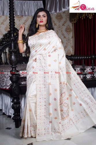 Semi Kantha Stitch Saree