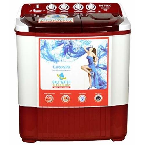 INTEX 7.2 kg Semi Automatic Top Load Washing Machine, WMSA72DR, Dark ...