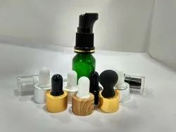 15 ML Green Glass Bottle with Aluminum Dropper Set
