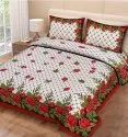 Rose Print Bedsheet for Double Bed