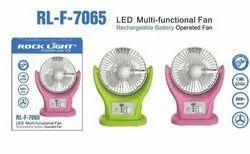 Rock Light Solar Power LED Multifunctional Fan