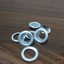 No. 24 (13mm) Aluminium Eyelets & Washers Polished