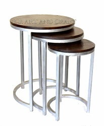 Three Tables Industrial Furniture Set, For Home