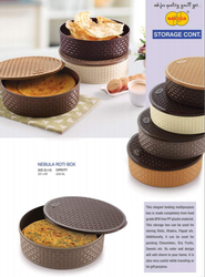 Plastic Round Roti Box, Box Capacity: 1-5 Kg