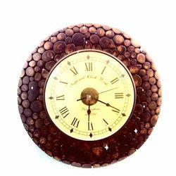 Wood Analog Designer Round Wall Clock