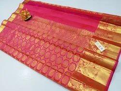 Wedding Wear Varsim Kanchipuram Pure Wedding Silks Sarees, With Blouse Piece
