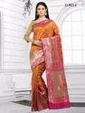 Orange Pure Silk Sarees