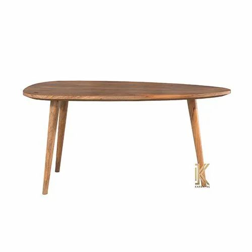 Wooden Table With 3 Legs