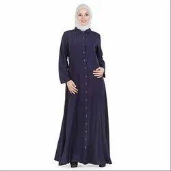 Chiffon Libas Women s Adifaah Full Front Button Open Abaya b1bf9ac4cb8e