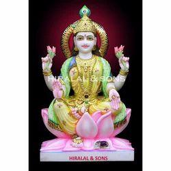 Goddess Lakshmi Marble Sculpture