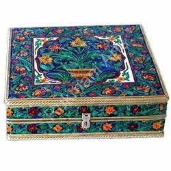 Rectangle Printed Meenakari Bangle Box, For Home