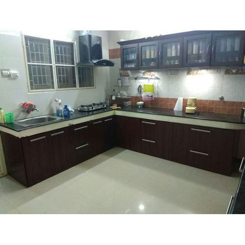 Pvc L Shape Modern Modular Kitchen Rs 850 Square Feet: L-Shaped Stylish Modular Kitchen, Rs 700 /square Feet, Aji