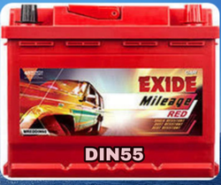 ML DIN55 Exide Car Battery
