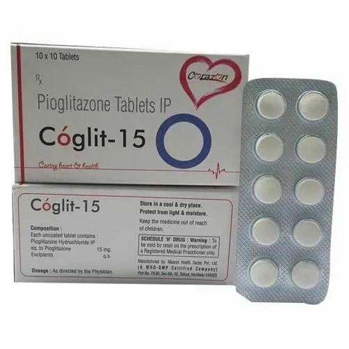 Cardio Diabetic Tablets Pioglitazone 15 Mg Coglit 15