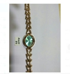 Leather Watches With Golden  Chain