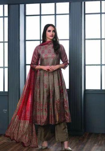 6e2aa11937 Party Wear Sri By Inayat Chandrakanta Silk Heavy Salawar Kameez, Rs ...