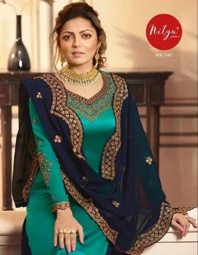 LT Nitya Vol Partywear Indian Latest Design Salwar Suits Nitya 4201-4209 Series