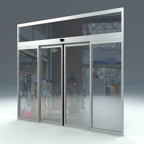 Transparent Automatic Sensor Glass Sliding Door Rs 62000 Unit Id