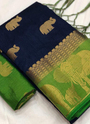 Pure Raw Silk Designer Casual Wear Sarees