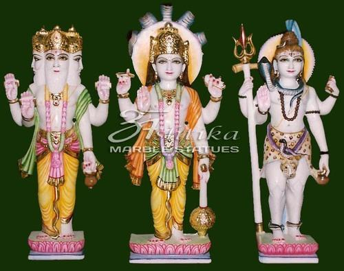 Array - marble brahma vishnu mahesh statue at rs 35000  pair   marble vishnu      rh   indiamart com