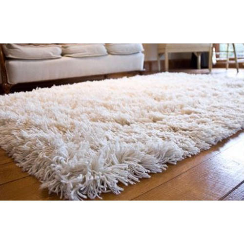 White Shaggy Rugs Rs 2000 Piece Mamta