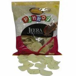 Round Jeera Rice Papad, Packaging Size: 250 Gm