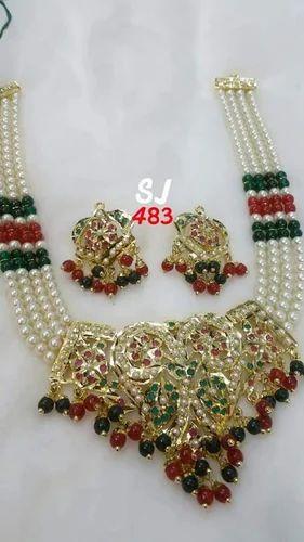 e90cf22ce SJ Jadau Necklace Jewellery, Rs 1600 /set, Shyam Jewellers | ID ...