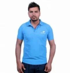 Blue Men Casual T Shirt