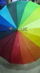 Multicolor Wooden Stick Umbrella
