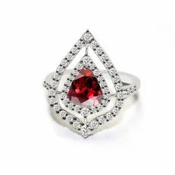 Gemstones And Heart Shape Ring