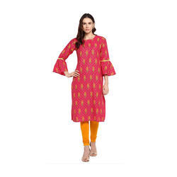 Ladies Red Printed Kurti