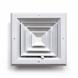GEC Air Grille Square Aluminum Ceiling Diffuser, For Ac