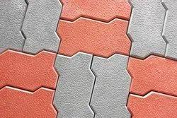 Zig Zag Bricks Design Glossy Paver Block, Size:238.6mm X 123.3mm